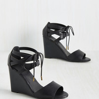 Espresso Your Love Wedge in Black | Mod Retro Vintage Heels | ModCloth.com