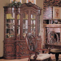 Nottingham Collection Hutch & Buffet (China) in Cherry - traditional - buffets and sideboards - by Modern Furniture Warehouse