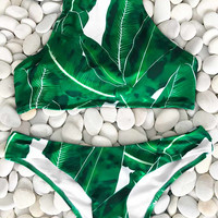 Cupshe Living For Forest Leaves Bikini Set