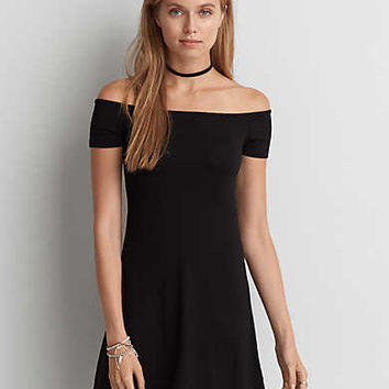 AEO Off-The-Shoulder Dress , Black