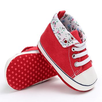 Baby Shoes Newborn Infant Kids Soft Sole Print Canvas Sneaker Baby Boys Girls Casual First Walkers
