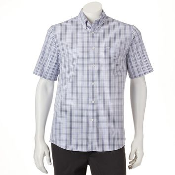 Dockers Plaid Chambray Casual Button-Down Shirt