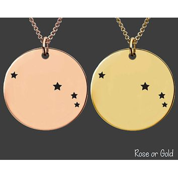 Aries Constellation Necklace | Zodiac Necklace