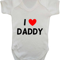 I Heart Daddy Baby Onesuit