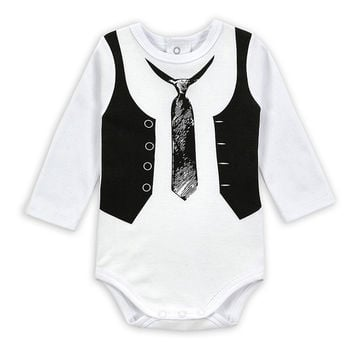 Mother Nest Baby Bodysuit Gentleman Style Infant Long Sleeve Creeper Baby Boy and Girl Clothes Baby Body Suit New Born