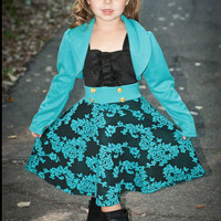 Dress Me Up Party Dress- Black And Jade