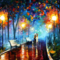 Misty Mood - oil painting by Leonid Afremov