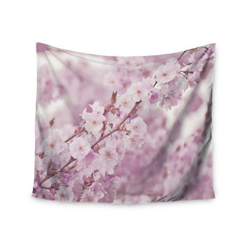 "Monika Strigel ""Endless Cherry"" Pink Floral Wall Tapestry"