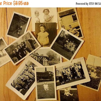 Autumn Sales Event Lot of 13 Vintage Photos, from 1930's to 1970's