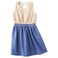 D-Signed Girls' Dress -  Indigo