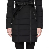 Mackage - NORINA BELTED LIGHTWEIGHT DOWN COAT IN BLACK FOR WOMEN BY MACKAGE