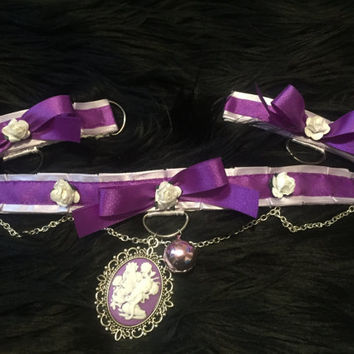 Purple Fairy Collar and Cuff Set