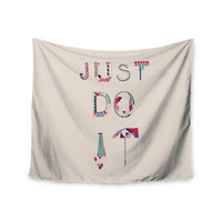 "Vasare Nar ""Just Do It"" Tan Rainbow Wall Tapestry"