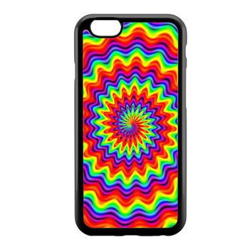 Psychedelic Spiral Rainbow iPhone 6 Case