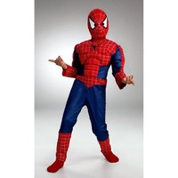 Kids Spiderman Muscle Costume - Small(4-6)