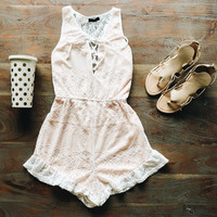 A Crochet Romper in Ivory