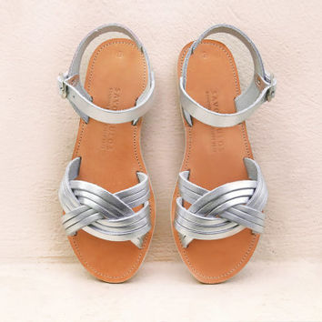 Leather sandals, Sandals, Greek sandals, Women shoes, Silver sandals, Ancient greek sandals, Wedding sandals, MEDUSA