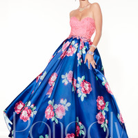 Panoply Printed Skirt 14835 Formal Prom Dress