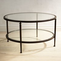 Lincoln Glass Top Round Coffee Table