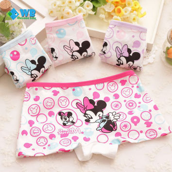 4pcs/lot Cotton Kids Panties Underwear For Children Baby Boxer Under Briefs Character Cartoon Girls Shorts Knickers Underpants