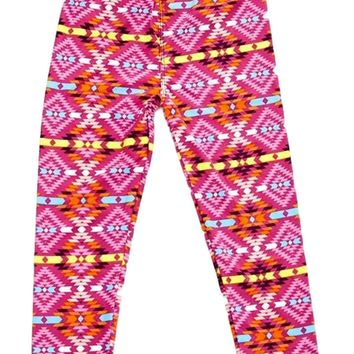 Girls Kaleidoscope Printed Legging, Pink