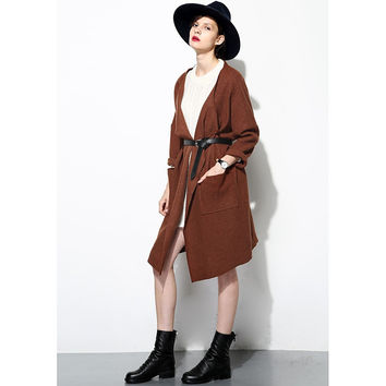 FEW MODA  Wool Matching Pockets Coat