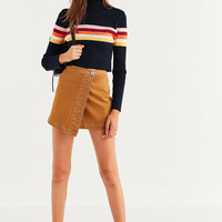 UO Izzie Striped Mock-Neck Sweater | Urban Outfitters