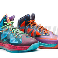 "lebron 10 premium ""what the mvp"" - dk atmc tlrflct slvrtd pl bl - Lebron James - Nike Basketball - Nike 