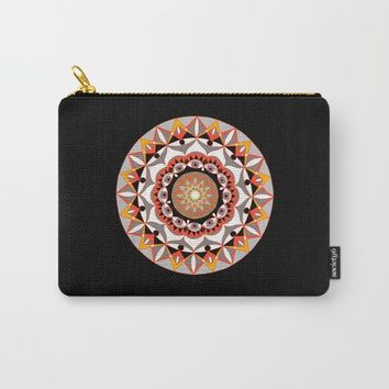 My Solar Plexus Mandhala | Secret Geometry | Energy Symbols Carry-All Pouch by Azima