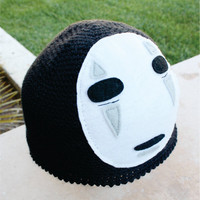 No Face Spirited Away Inspired Hat Studio Ghibli by littlepopos