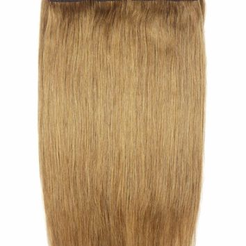 """ZZHAIR 150g 24"""" 60cm Non-remy Halo Hair Flip in Human Hair Extensions 22 Colors One piece Set No clip Fish Line Natural Straight"""