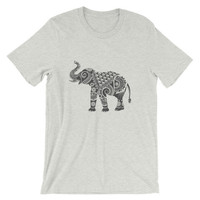 Ornate Indian Elephant Unisex short sleeve t-shirt