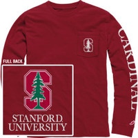 1406D Vintage Wash Long Sleeve Pocket Tee | Stanford University