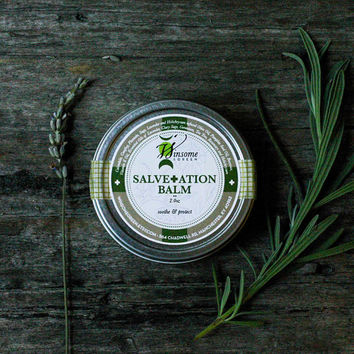 All Natural Skin Care Herbal Salve Balm - Camping, Hiking, Outdoor, fall autumn cabin woodland forest rustic modern