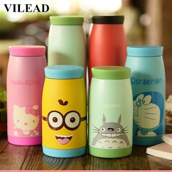 VILEAD 250ml 350ml 500ML Stainless Steel Thermos Mug Garrafa Termica Belly Cup Termos Vacuum Flasks Cup for Office Water Bottle