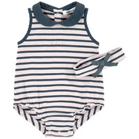 Striped Onesuits and matching headband Marèse for babies | Melijoe.com