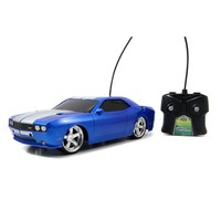 HyperChargers Big Time Muscle Blue Dodge Challenger RC Car