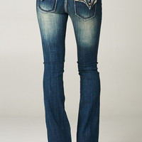 Embellished Pocket Flap Bootcut Cello Jeans