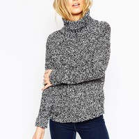 ASOS Chunky Jumper With High Neck In Boucle
