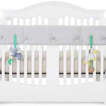 Gray Organic Crib Rail Cover - Wide Rail