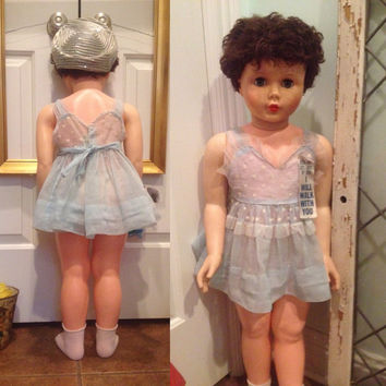 """1960 Vogue Ginny 36"""" inch Doll by Model Plastic   Patti Playpal type/Rare / Great condition   Comes with more clothes & accessories"""