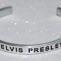 I Love Elvis Presley  |  Engraved Handmade Bracelet By Say It and Wear It Jewelry