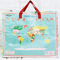 Laundry Bag in World Map Print - Urban Outfitters