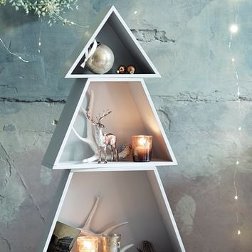 NEW Frosted Grey Christmas Tree Shelves