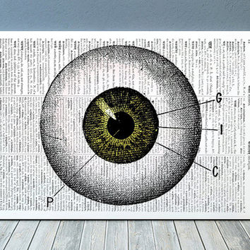 Anatomy print Eye poster Medical decor Gothic print RTA1074