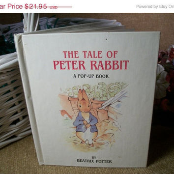 The Tale of Peter Rabbit Pop Up Book by Beatrix Potter Hardcover Illustrated Children's Gift Book Keepsake Easter Basket Stuffer