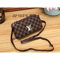 LV Louis Vuitton Women Fashion Leather Crossbody Shoulder Bag Satchel