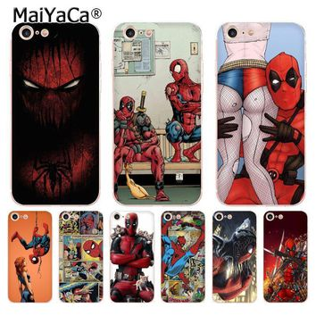 Deadpool Dead pool Taco MaiYaCa  & Spiderman soft tpu phone case cover for Apple iPhone 8 7 6 6S Plus X 5 5S SE 5C 4 4S case funda AT_70_6
