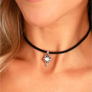 Palm Tree Choker Black