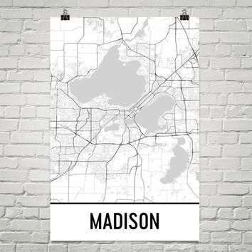 Madison WI Street Map Poster